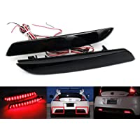 Luffy - Luci di arresto a LED per paraurti posteriore, per Honda Jazz ZE Insight CR-Z ZF1, colore: rosso, confezione da 2