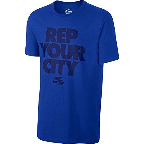 Nike REP Your City Tee Herren T-Shirt Azul (Game Royal/Game Royal/Deep Royal Blue)