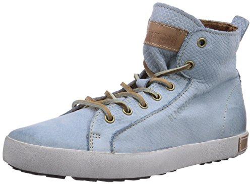 Blackstone SNEAKER NUBUCK, Sneaker donna blu (Blau (sky blu))