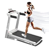 PowerMax Fitness Unisex Adult TDM-99S (1.5 Hp), Light Weight, Foldable Motorized Treadmill For Jogging & Running At Home - White/Grey, General-Foldable