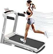 PowerMax Fitness Unisex Adult TDM-99S (1.5 Hp), Light Weight, Foldable Motorized Treadmill For Jogging & R