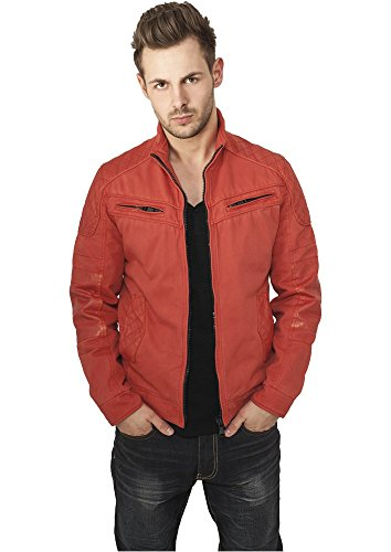Urban Classics Cotton/Leathermix Racer Red rouge