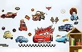 Kibi Wandaufkleber Cars, Wandsticker Cars Disney Cartoon, Gebrochene Wand Wandtattoo Cars Kinderzimmer, Wohnzimmer, Schlafzimmer, Dekoration, Abnehmbare Afkleber Wall stickers (A)