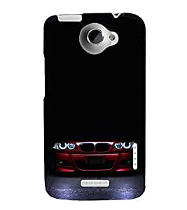 FUSON Red Sporta Car Darkness 3D Hard Polycarbonate Designer Back Case Cover for HTC One X :: HTC One X+ :: HTC One X Plus :: HTC One XT