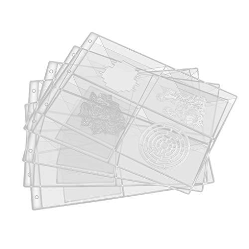 Vkospy Schneideisen-Speicher-Fall Stencil Album Stamp Crafts Transparent durchsichtigen Kunststoff Seal Taschen Schablonenhalter
