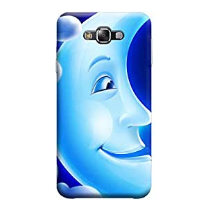 MakemyCase Samsung E5 Smiley Moon 3D Matte Finishing Printed Designer Hard Back Case Cover (Blue)
