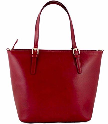 G&G PELLETTERIA ,  Damen Tasche aus echtem Leder rot
