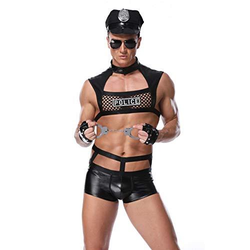 Cop Kostüm Herren - Xingjo Herren Erotik Kostüm,Kostüm Sexy Herren,Hochwertiges