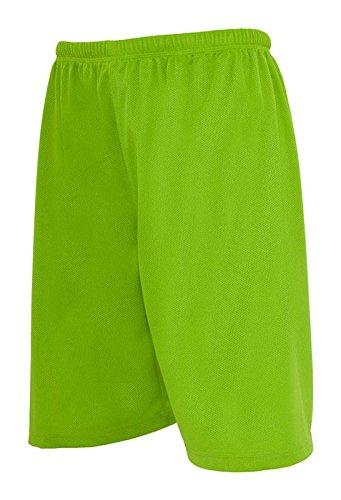 TB046 'Urban Classics' Bball Mesh Shorts (Various Colours), Größe:XL;Farbe:limegreen (Polyester-mesh-shorts Farbe)