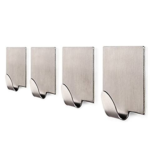 LanLan SUS 304 Stainless Steel Self Adhesive Hooks Key Rack