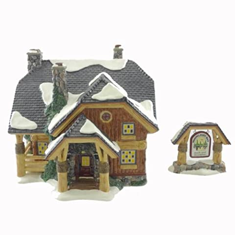 Dept 56 Buildings Moonlight Bay Bunk And Breakfast Snow Village Log Cabin - Ceramic 7.50 IN by DEPT 56 BUILDINGS