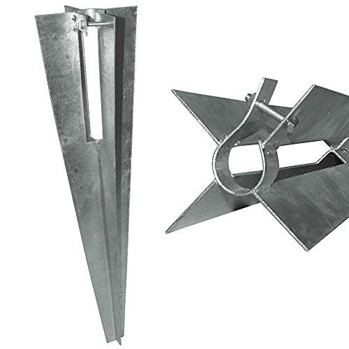 Pro tec Variante Maschendrahtzaun-Set HTFS 09x