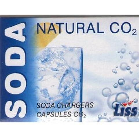 50Liss Soda capsule per Soda filtrato, Sifone Soda, 8g co2Capsule - Liss Sifone
