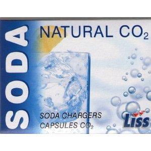 50 Liss Sodakapseln für Sodabereiter, Soda Siphon, 8 g CO2 Kapseln