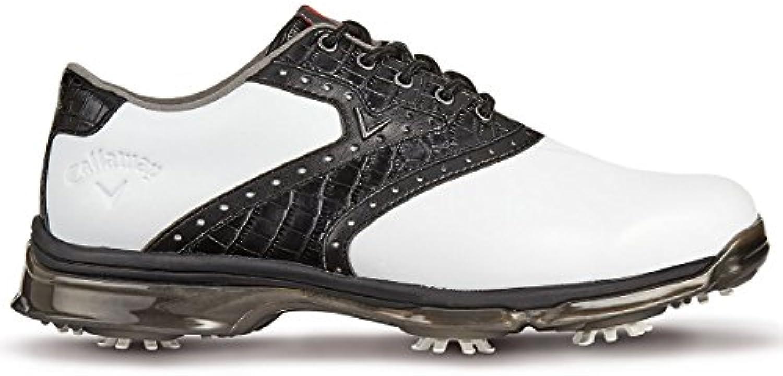 Callaway X Nitro PT Zapatillas de Golf, Hombre, Blanco (White/Black), 45 EU