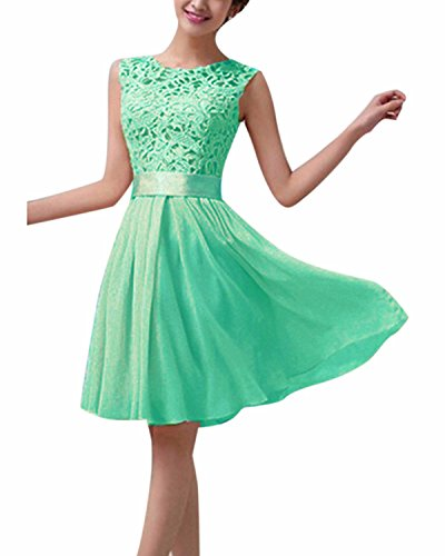 Ärmellos Party Club Kurz Slim Abend Brautkleid Cocktail Ballkleid Grün EU 38/US 6 ()