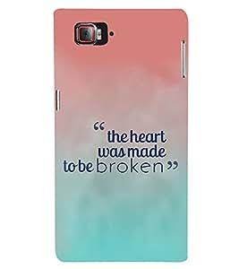 FIOBS The Heart Made to be Broken Designer Back Case Cover for Lenovo Vibe Z2 Pro :: Lenovo K920 :: Lenovo Vibe Z2 Pro K920
