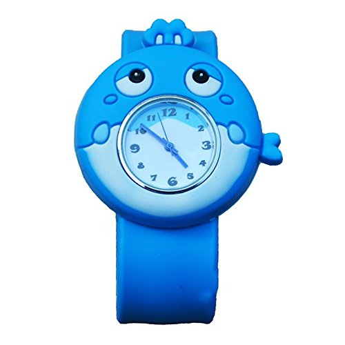 MMRM 3D Animal Mar unisex Niños /bebe reloj de pulsera de silicona reloj de cuarzo ballena