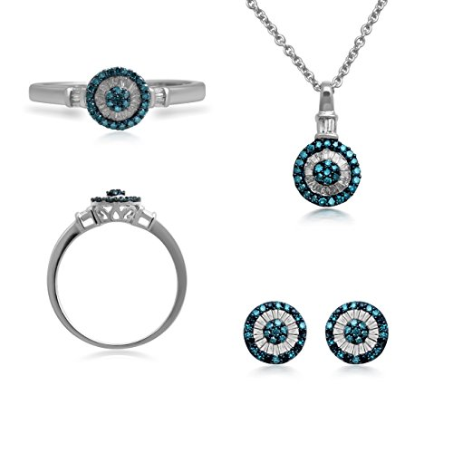 lber 1/Ct Erstellt Weiß und behandelt blau Diamond Box Set (Führenden Damen Kostüme)