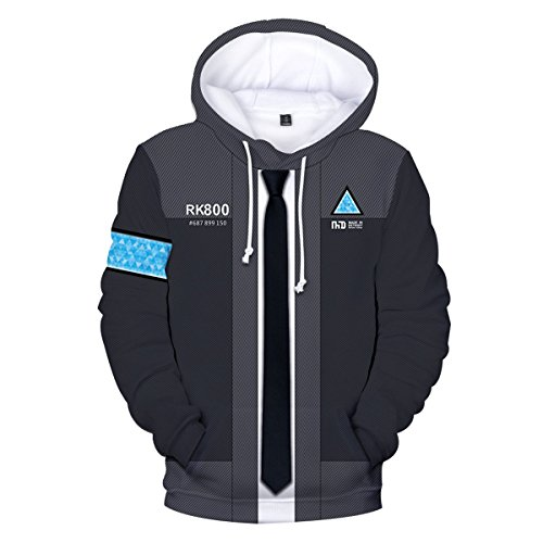 CTOOO 2018 Sweats à Capuche Detroit Become Human 3D Homme Mode XXS-3XL