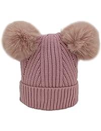 Hosaire 1X Sombreros y Gorras para Bebés Niña Niño Sombrero de Punto Niña  Pelota de Felpa 9dc1ecb7947