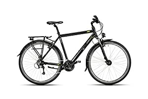 Hawk Trekking 24-G, 52 cm Fahrrad Comfort Black 28 Zoll
