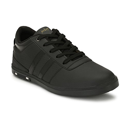 Jerkey Men's Black Leather Casual Hrx Sneaker Shoes (7)