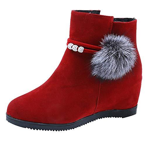 Stiefeletten Damen Winterstiefel Xinantime Stiefel Damen Schuhe Ankle Boots Frauen Kurze Stiefel Martin Stiefel Outdoor Kunstleder Winterschuhe 35-40