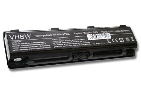 vhbw Li-Ion Akku 4400mAh (10.8V) für Notebook Laptop Toshiba Satellite L850-19C, L850-19D, L850-19E, L850-1C9 wie PA5023U-1BRS, PA5024U-1BRS, u.a..