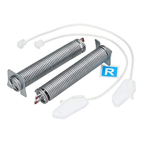 2x Tür-Scharnier Set Feder mit Seilzügen für Geschirrspüler Spülmaschine Bosch Siemens Neff 00754866 754866 Farbcode rot