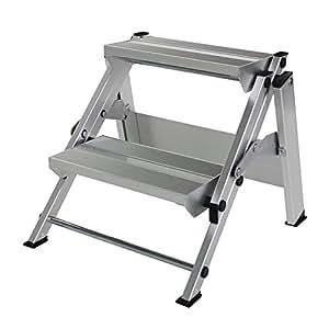 Aluminium-Klapp-Treppe,2 Stufen Arbeitshöhe bis ca. 2,40 m