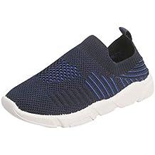 Riou Zapatos de Niños Infantes Bebés Estiramiento Deporte Zapatillas de Deporte Correr Calzado Informal Chicos y