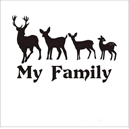 ykxykw Jagd Aufkleber Auto Jagd Schießen Buck Deer Familie Hunter Shop Poster Vinyl Wandtattoos Dekor Chase Wandaufkleber 58X90 cm (Deer Family Auto-aufkleber)