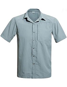 [Sponsorizzato]Free Soldier maglietta a maniche corte da uomo estivo Winkle resistente ad asciugatura rapida camicia con tasca...