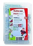 Fischer 518526 Meister-Box Universaldübel UX mit Rand + Schrauben + Haken, Dübel und Schrauben Set, 118 Teile