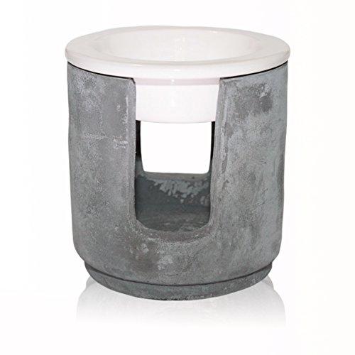 Frau Dufte | Gross & Grandios Duftlampe - Aromalampe für Duftmelts Dufte Momente - Beton-Optik / Industrie-Design