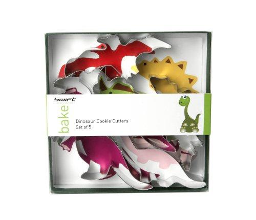 Swift - Moldes para galletas con formas de dinosaurios (5 unidades)