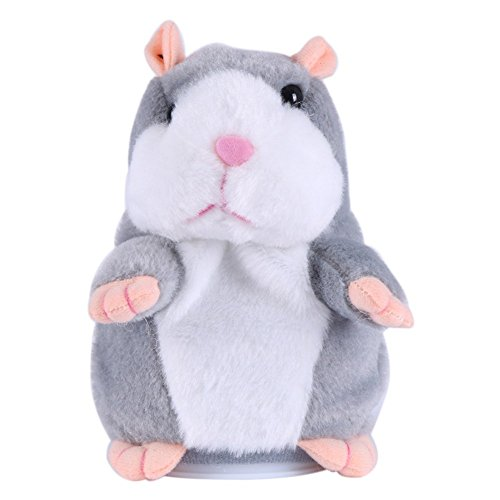 STGOOD Talking Hamster Plush Toy, Repeats What You Say Electronic Talking Record Plush Interactive Toys for Valentine's Day, Birthday, Christmas, Kids Early Learning Gift
