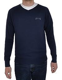 Slazenger Seve Mens Knitted V Neck Pullover Top