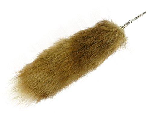 Fuchsschwanz Anhänger Taschenanhänger Fuchsschweif Echtfell Schlüsselanhänger, Farbe wählen:18 braun