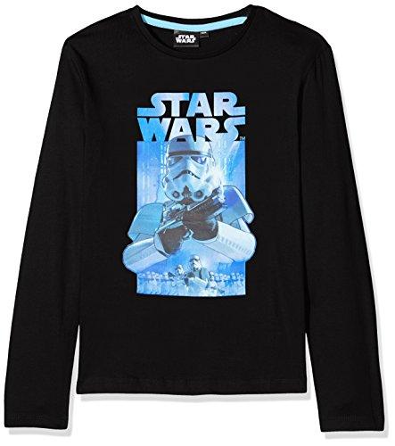 STAR WARS HQ1037 Sweat-Shirt, Noir (Black 002), 8 Ans Garçon