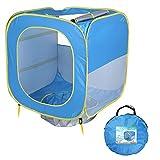 TENCMG Kinder-Strandzelt - Pop Up Portable - Schattenbecken UV-Schutz Sun Shelter für Kinder - für Kinder Spiele für drinnen und draußen - Blau 31.5x31.5x31.5in