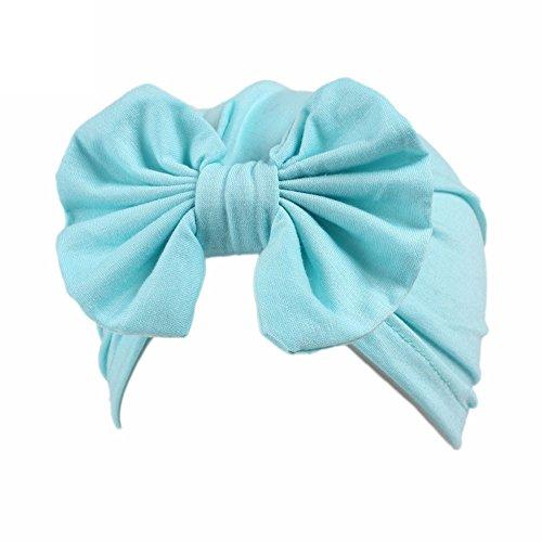 Sunnywill Kinder Baby Girls Boho Mütze Schal Turban Head Wrap Cap (Blue) (Blue-baby-häubchen)
