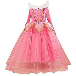 Eyekepper Dormir Belleza Traje de Aurora cumpleaños Fiesta Vestir, Rosa 150cm