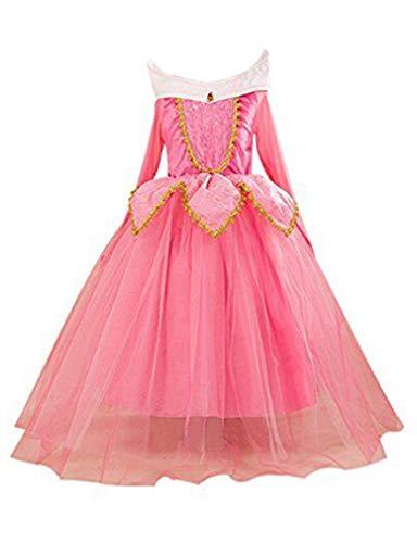Eyekepper Dormir Belleza Traje de Aurora cumpleaños Fiesta Vestir, Rosa 140cm