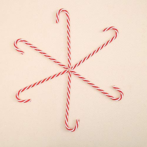 WEIWEITOE 6 unids árbol de Navidad Ornamento plástico bastón de Caramelo Christmastree...