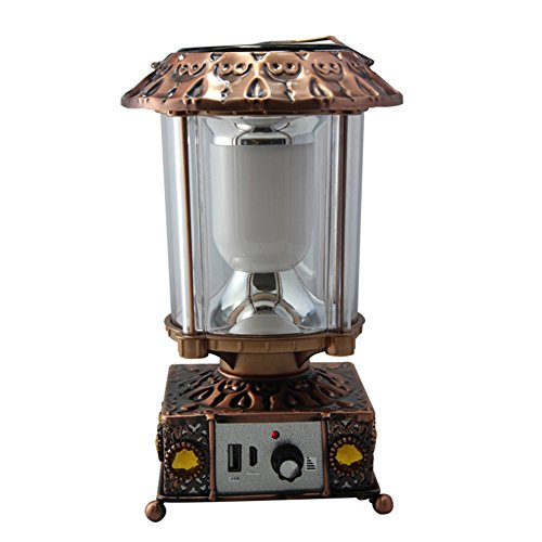 AOKARLIA LED Camping Licht Solarenergie Tragbare Lampe/Multifunktion Außenbeleuchtung/USB Wiederaufladbar Europäismus Laterne