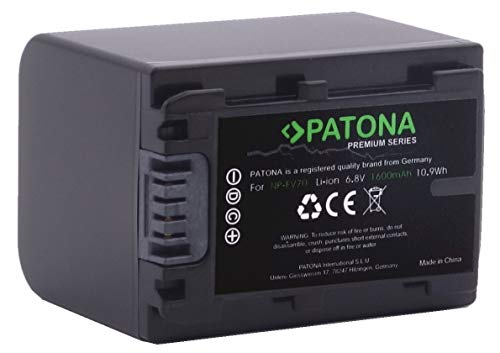 Bundlestar PATONA PREMIUM Akku für Sony NP-FV70 echte 1600mAh mit Infochip (neueste Generation 100% kompatibel! UL-zertifiziert!!) passend zu, siehe Angebot