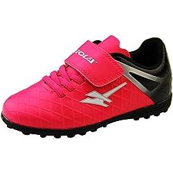 Garçons GOLA Chaussures de Football Astro Turf Enfants Crampons de Football Rose et Noir EU 28
