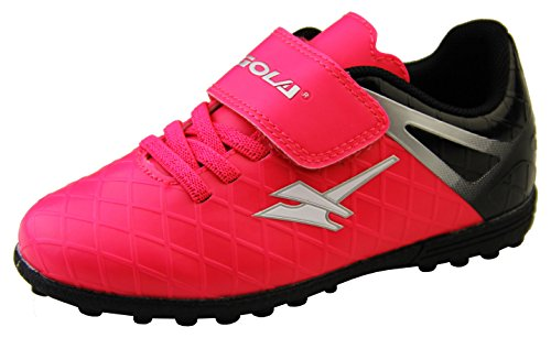 Gola Jungen Mädchen Activo5 Astroturf Fußballschuhe Sports Turnschuhe Pink Rosa und Schwarz EU 28
